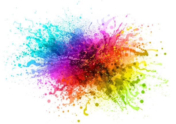彩虹油漆飛濺 - 彩色影像 幅插畫檔、美工圖案、卡通及圖標