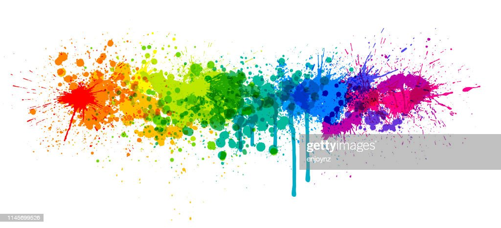 Spruzzo di vernice arcobaleno : Illustrazione stock