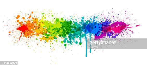 rainbow paint splash - paint stock illustrations
