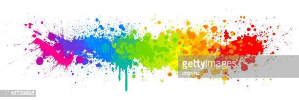 レインボーペイントスプラッシュ - レズビアン点のイラスト素材/クリップアート素材/マンガ素材/アイコン素材