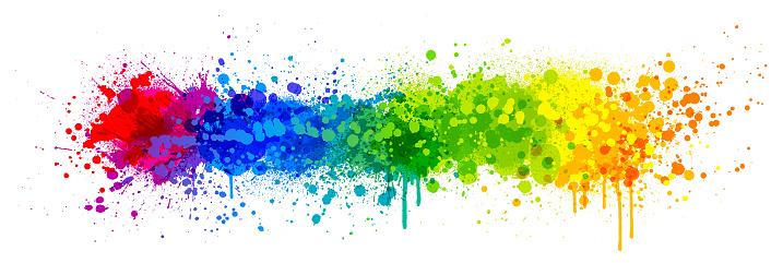 Rainbow paint splash - gettyimageskorea