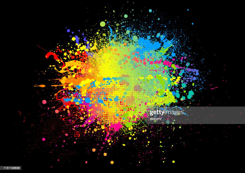 Regenbogenfarbe spritzen : Stock-Illustration