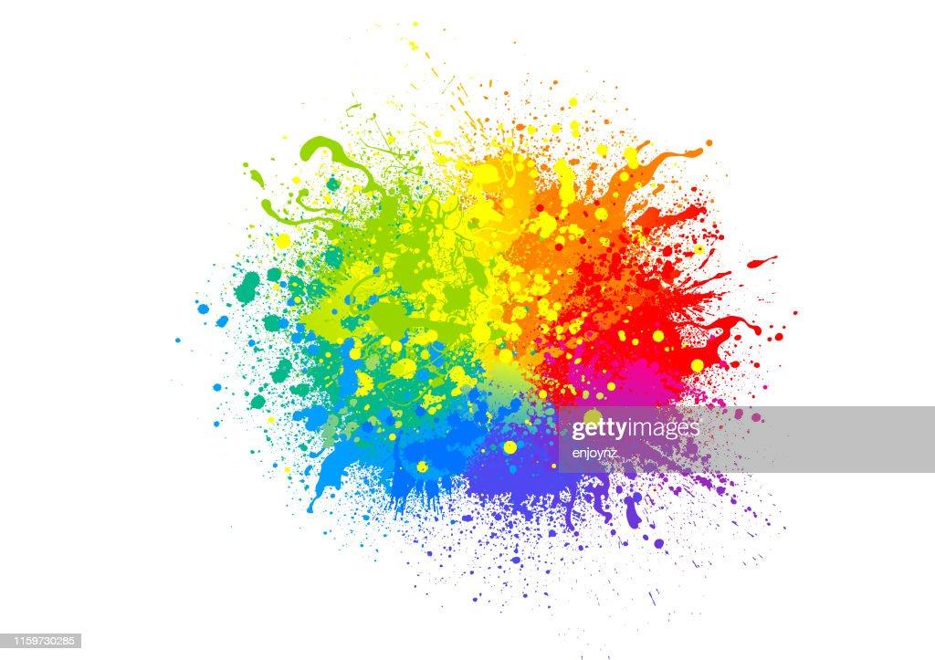 Regenbogen-Farbspritzer : Stock-Illustration