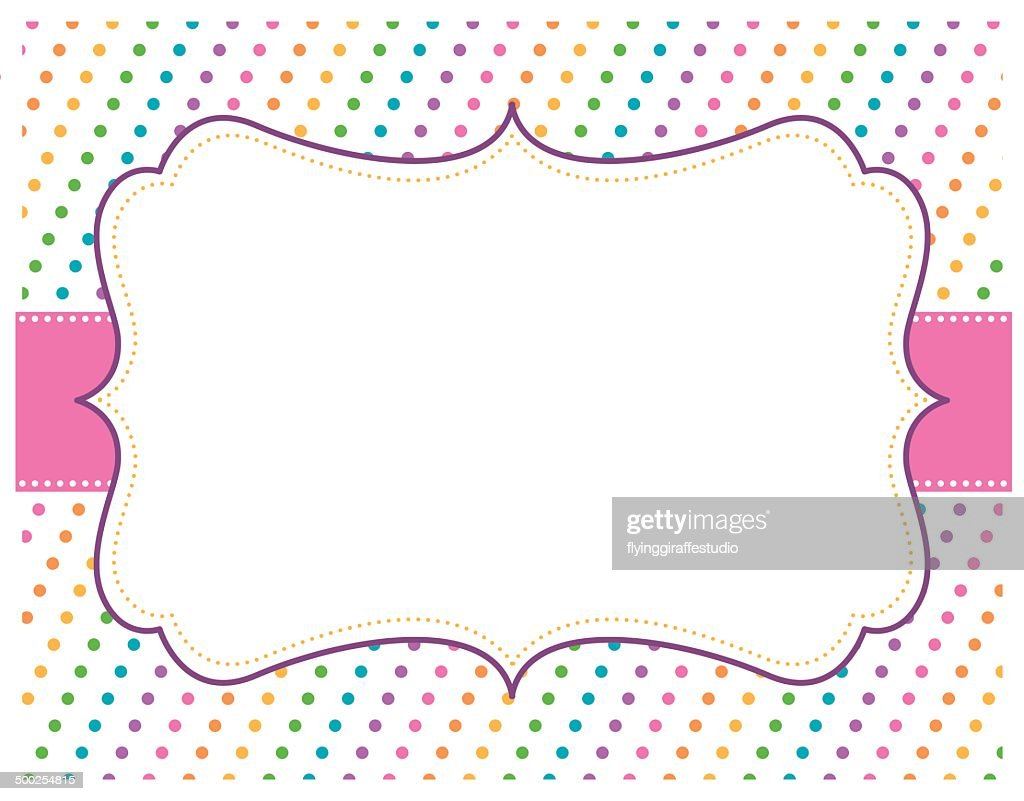 rainbow polka dot background vector art getty images