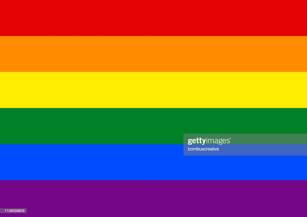 レインボー プライド フラグ LGBT 運動 : ストックイラストレーション