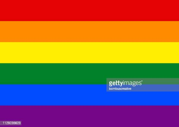 rainbow pride flag lgbt movement - rainbow stock illustrations, clip art, cartoons, & icons