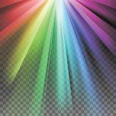Rainbow rays element