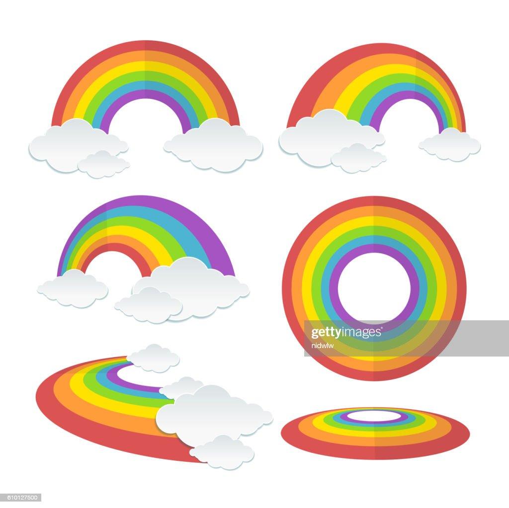 Rainbow Set. Vector