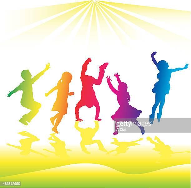 Rainbow Silhouette High Energy Kids
