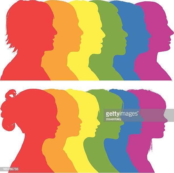 Rainbow Silhouetten