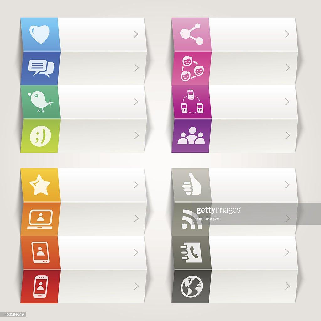 Rainbow - Social Media Icons / Navigation template