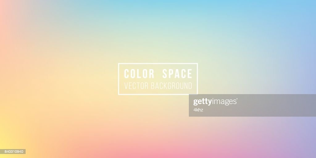 Rainbow Soft Color Space Defocus Smooth Gradient Background