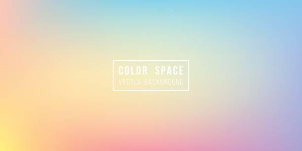 rainbow soft color space defocus smooth gradient background - rainbow stock illustrations