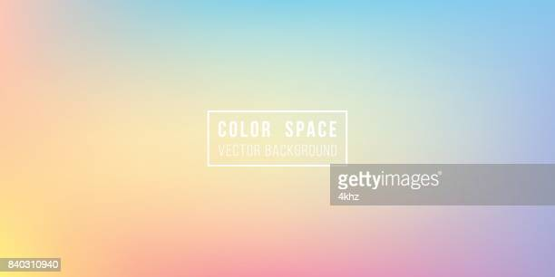 rainbow soft color space defocus smooth gradient background - softness stock illustrations