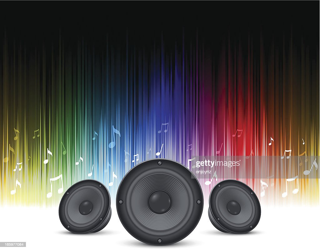 Rainbow Speakers Background High-Res Vector Graphic ...