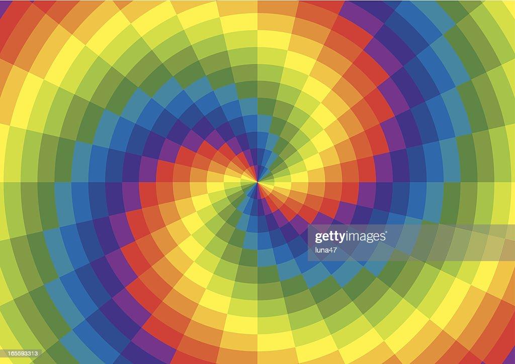 Rainbow Spiral Polar Grid