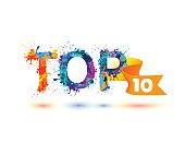 TOP 10. Rainbow splash paint