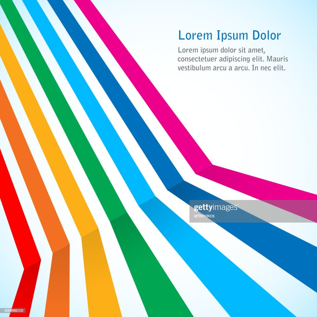 Rainbow stripes on light background