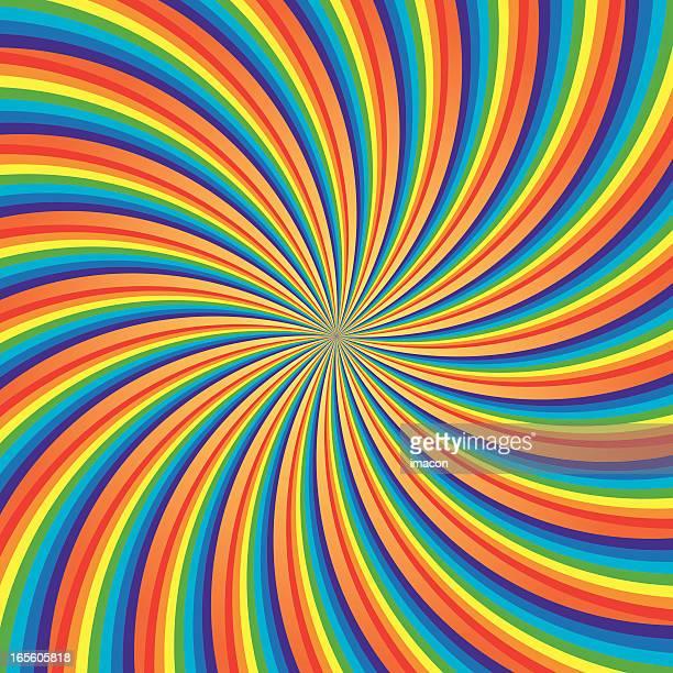 Rainbow Swirl, Vector Illustration