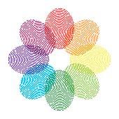 Rainbow Thumbprint