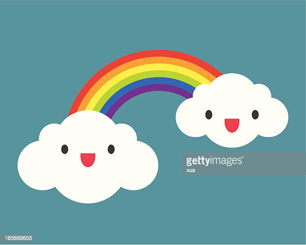 rainbow - rainbow stock illustrations, clip art, cartoons, & icons