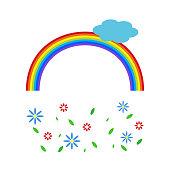 rainbow vivid reminder. vector