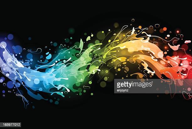 rainbow water splash - gay stock illustrations, clip art, cartoons, & icons