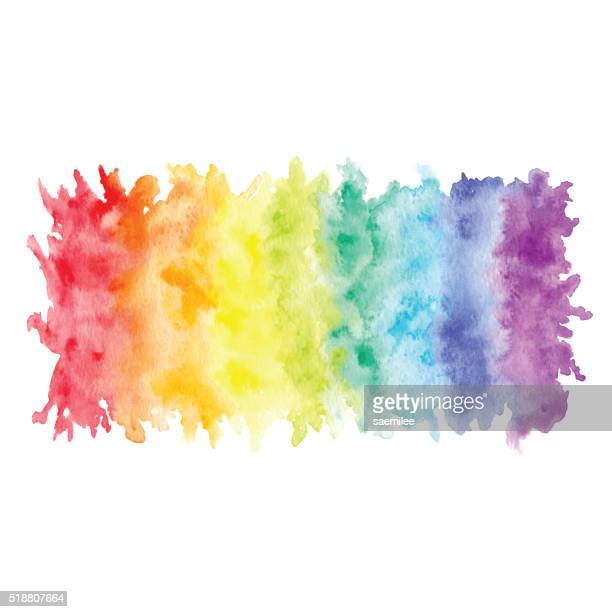 Rainbow Watercolor Banner