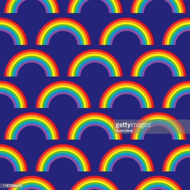 rainbows seamless pattern - marriage equality stock illustrations, clip art, cartoons, & icons