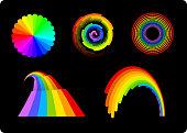 Rainbows set