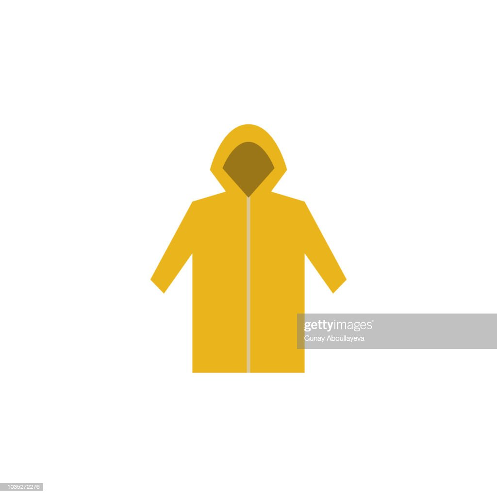 raincoat colored illustration. Element of camping icon for mobile concept and web apps. Flat design raincoat colored illustration can be used for web and mobile. Premium icon