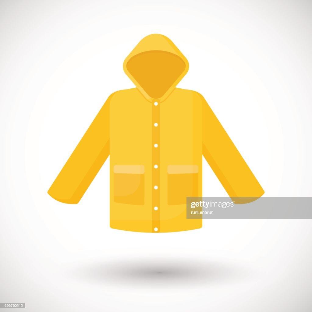 Raincoat vector flat icon