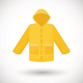 Raincoat vector flat icon