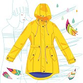 Raincoat vector