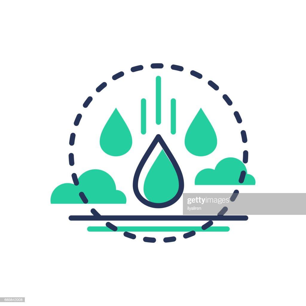 Raindrop - modern vector single line icon
