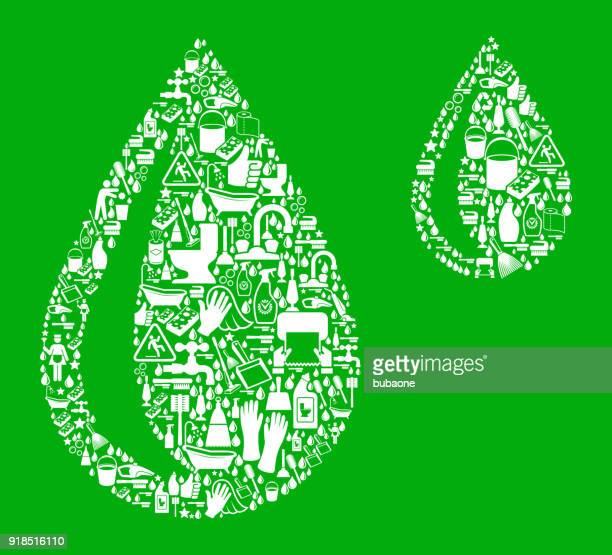 raindrops cleaning green background pattern - paper towel stock illustrations, clip art, cartoons, & icons