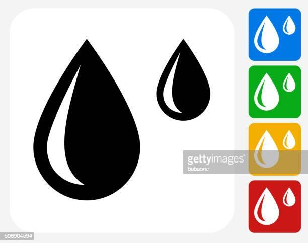 Raindrops Icon Flat Graphic Design