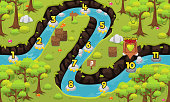 Rainforest Game Level Map