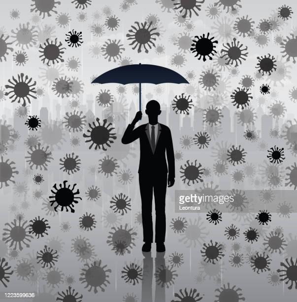 illustrations, cliparts, dessins animés et icônes de raining covid-19 - confinement clip art
