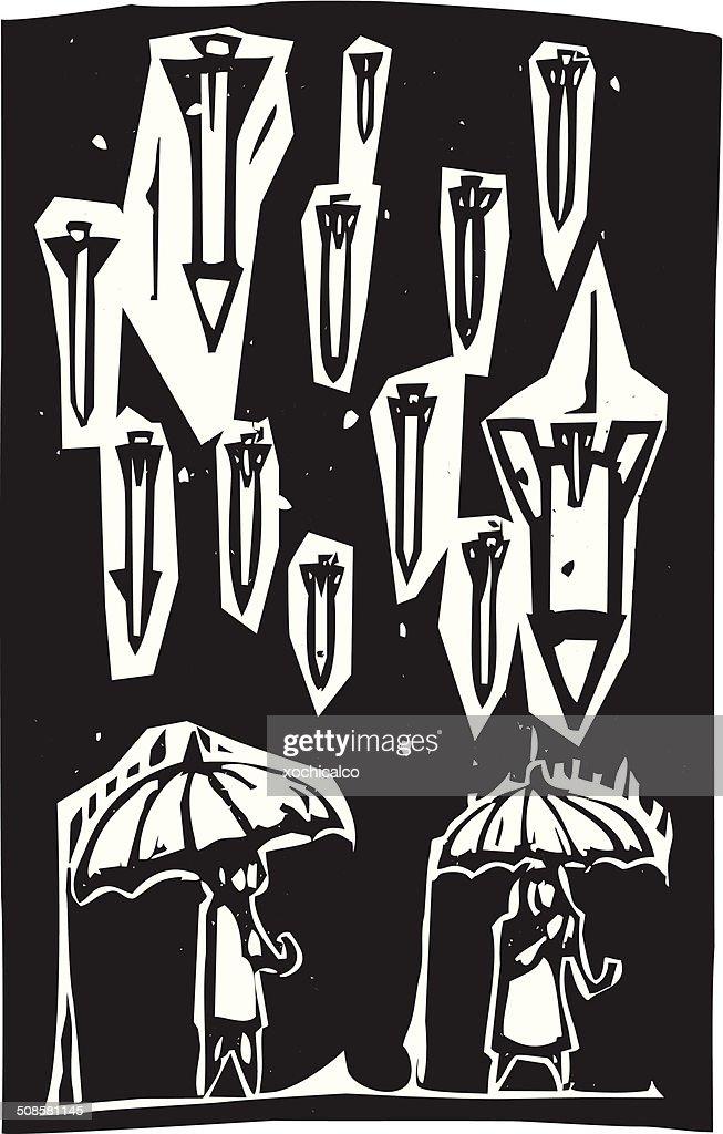 Raining Missiles : Vector Art