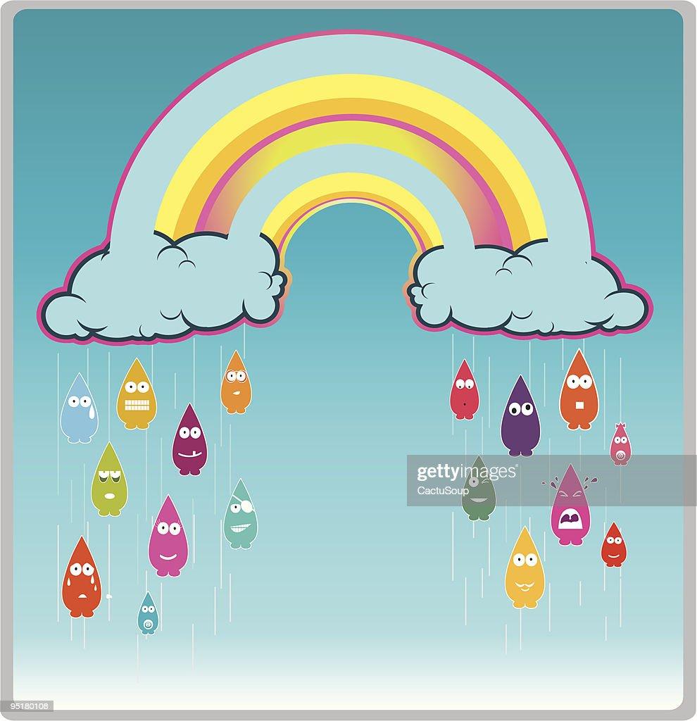 raining : stock illustration