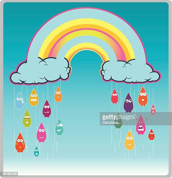 raining - sneering stock illustrations, clip art, cartoons, & icons