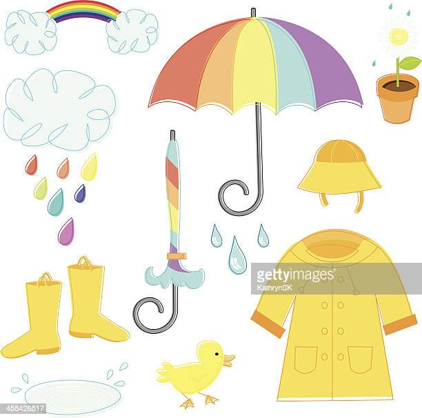 rainy day essentials - puddle stock illustrations, clip art, cartoons, & icons