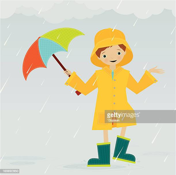 rainy day - puddle stock illustrations, clip art, cartoons, & icons