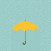 Rainy day with umbrella