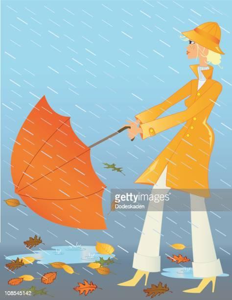 rainy days - cardigan sweater stock illustrations, clip art, cartoons, & icons
