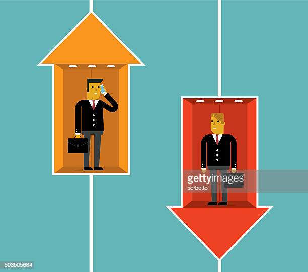 raise and fall - elevator stock illustrations, clip art, cartoons, & icons