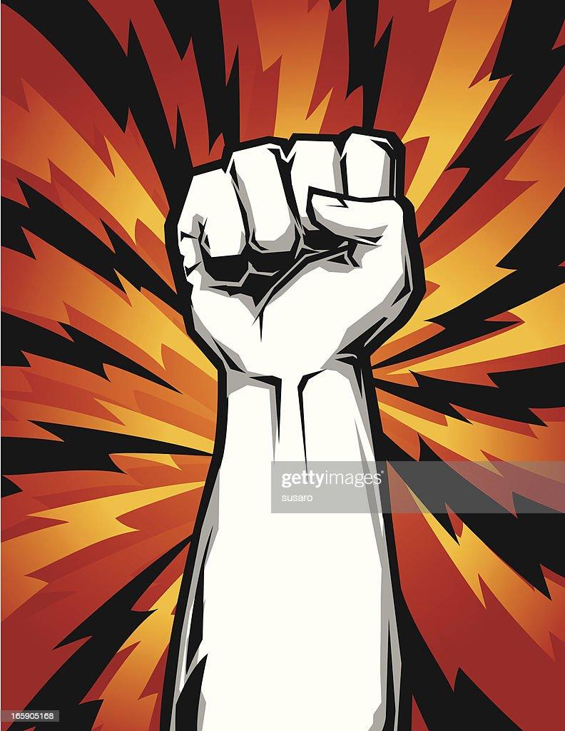 raised fist up