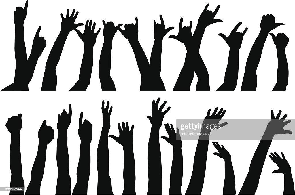 Raised hands II