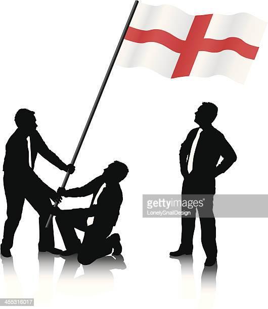 Raising the English Flag